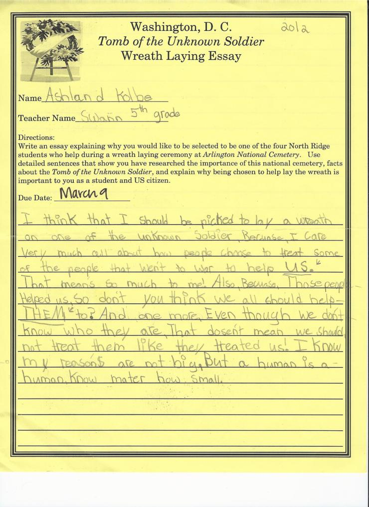 Ashland DC Essay